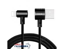 Кабель Baseus  T-type Magnet USB AM (папа) - Apple Lightning (8 pin) M (папа), длина 1m   Black OEM