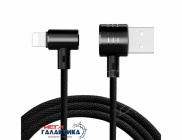 Кабель Baseus  T-type Magnet USB AM (папа) - Apple Lightning (8 pin) M (папа), длина 1m   Black OEM