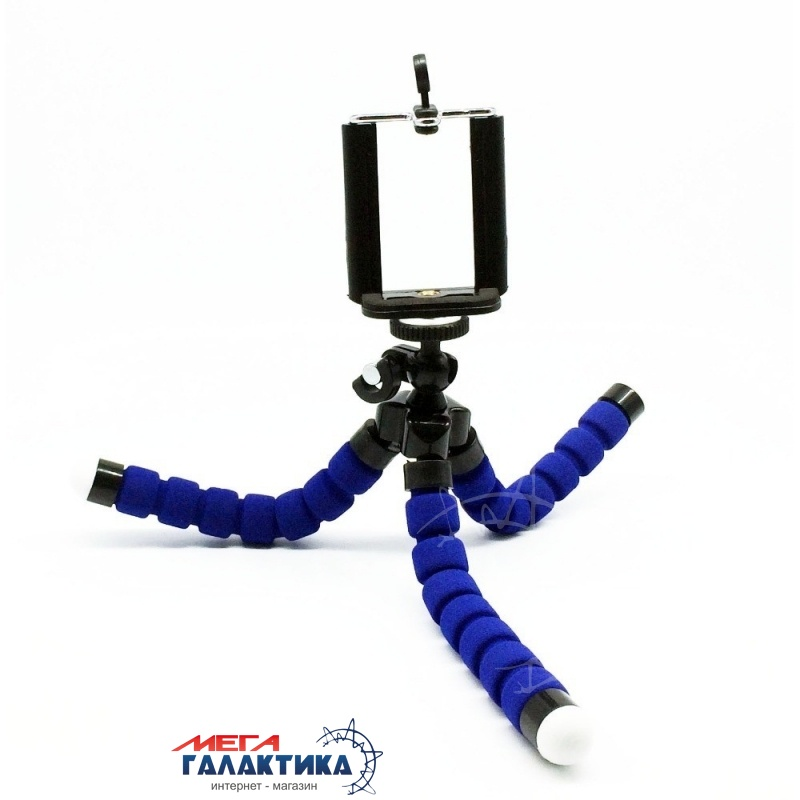 Штатив для телефона Megag Mini Action (Tripod) Blue Фото товара №2