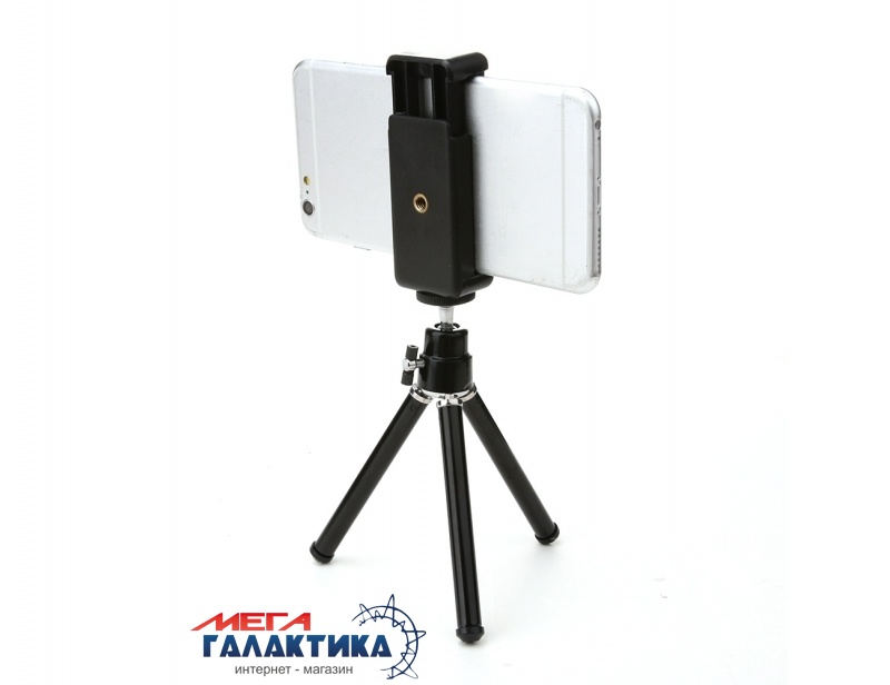 Штатив для телефона Megag Мини триног AS-2  Black Фото товара №1