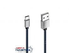 Кабель USB 3.1 Suntaiho  Data Sync USB AM (папа) - Type-C M (папа), длина 1m   Blue Black OEM