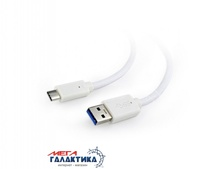 Кабель USB 3.0 Cablexpert  CCP-USB3-AMCM-1M-W USB AM (папа) - Type-C M (папа), длина 1m   Retail