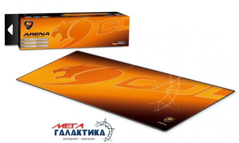Коврик Cougar Arena     Резина + ткань Orange  Фото товара №2