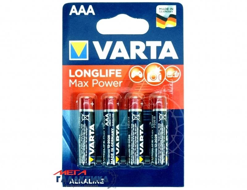 Батарейка Varta AAA MAX TECH  Alkaline 1.5V  (4903121472) Фото товара №1