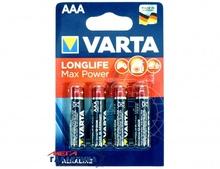 Батарейка Varta AAA Longlife Max Power  1.5V Alkaline (Щелочноя) (4703101404)