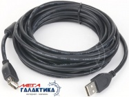 Удлинитель Cablexpert USB AM (папа) - USB AF (мама) USB 2.0  CCF-USB2-AMAF-6 1 Феррит 1.8m Black Retail