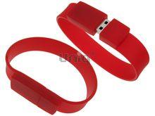 Флешка Uniq USB 2.0 БРАСЛЕТ Силиконовый Красный 4GB (04C00567U2)