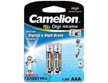 Батарейка Camelion AAA Digi  1.5V Alkaline (LR03-BP2DG)